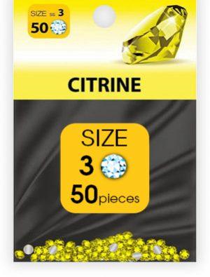 -дизайн стразы №3 CITRINE (50 шт.)_swatch