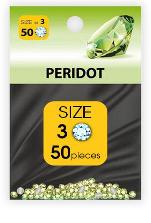 -дизайн стразы №3 PERIDOT (50 шт.)_swatch