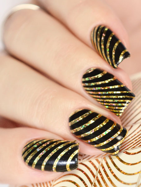 K 007-08 gold holo swatch
