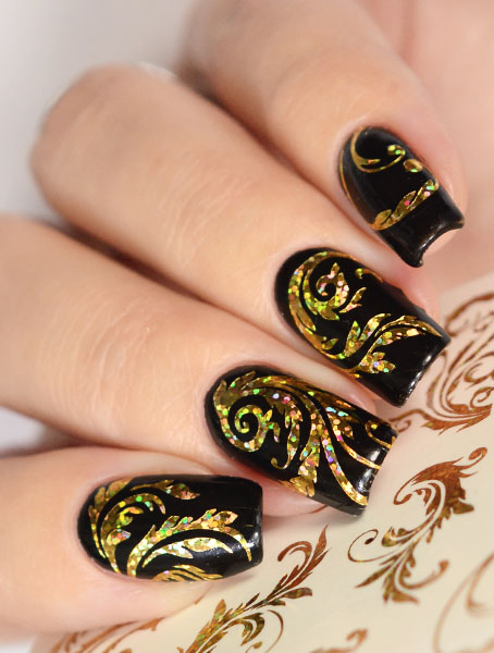 K 008-08 holo gold swatch